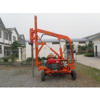 液压打桩钻孔机;road drilling piling machine;路面钻孔护栏打桩机