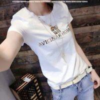 百搭新款夏季女装短袖纯棉T恤女百搭韩版修身显瘦体恤特价女装