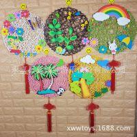 幼儿园吊饰节日装饰 教室材料 室内外走廊DIY手工布纸绳编织挂饰