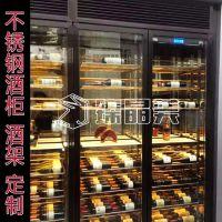 四川中式钛金不锈钢酒柜,吧台专用红酒酒柜