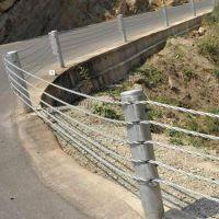 五索缆索护栏配件-中间立柱规格-绳索防撞栏间隔件