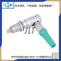 M9-3芯L型插头 JLT-CHWP9-3芯90度弯头 推拉自锁插头厂家直销