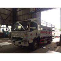 中国重汽液化气瓶运输车,气瓶车,5米1液化气槽车