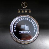 纪念币厂家定制 中国南方电网纯银纪念币 企业Logo纪念章