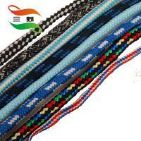厂家批发 三野品牌优质黑色白色彩色编织空心包芯丙纶尼龙绳子