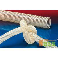 硬质螺旋PVC增强软管 螺纹耐磨PVC透明软管 耐磨螺纹食品PVC透明软管
