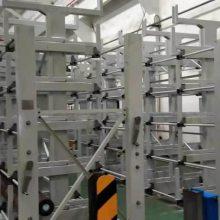 天津悬臂货架尺寸 伸缩式管材货架 可存放6米管材 铝管存放架 铝业公司
