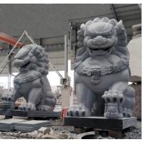 惠安石雕工艺品摆件现代狮子北京石雕狮子