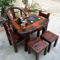 老船木茶桌原木茶桌椅组合茶道桌子功夫茶桌茶艺桌茶台船木家具