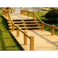 济南供应优质水泥仿木河堤护栏 仿木景观桥 仿木地板