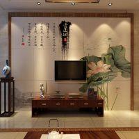 彩虹石品牌 佛山彩雕客厅电视背景墙 欧式简约背景墙-爱莲