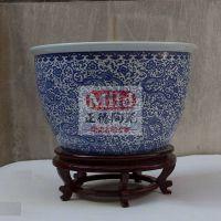 招财鱼缸大件装饰缸 摆件缸正德陶瓷