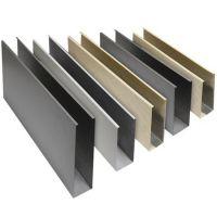 铝方通吊顶 幕墙扣板户外门头广告底板 铝合金长城格生态木定做