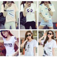 广西崇左市供应女装夏季纯棉短袖批发适合大学生穿的T恤批发外贸纯白色女T恤