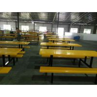 常平饭堂餐桌椅厂家批发 户外桌椅 员工超市休息玻璃钢材质桌面