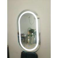 异形镜贴墙浴室镜led卫浴镜壁挂洗手间镜智能无框卫生间镜子带灯