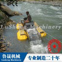 山东鲁晟小型江河淘金船、小型江河淘金机械、河道淘金船的特点