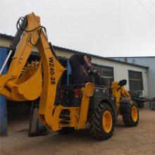 挖掘装载机小型挖掘机两头忙前铲后挖挖掘直径4.5米山西直销中首重工