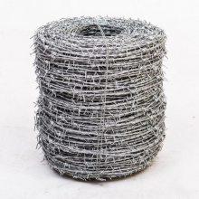 揭阳12*14#双股刺绳围栏网一吨价格?工厂防护铁蒺藜规格展示图【一诺品牌】