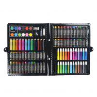 儿童绘画文具套装168件水彩笔蜡笔画笔礼盒 美术培训绘画工具