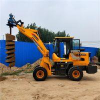 改装挖坑机 电线杆打坑机 装载机改装挖坑钻头 洪鑫厂家直销