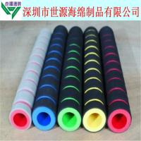 厂家定制 多种NBR橡塑把套 彩色条纹海绵手柄 异型橡塑管