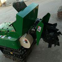 原地转弯自走式旋耕机 富兴小坦克式石榴园开沟施肥机厂家