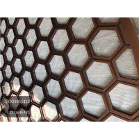 纳米喷涂红古铜镂空屏风 铝板精雕仿铜花格隔断工厂十年经验
