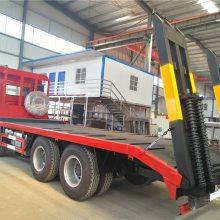 东风柳汽乘龙前四后八平板拖车厂家直销大型挖机拖车18672732638