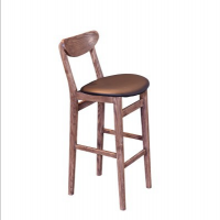 倍斯特欧式复古实木高吧凳 主题餐厅吧台椅 酒吧清吧椅咖啡厅高吧椅厂家定制