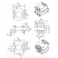 PQ2017 变压器骨架 立式4+2 C 有配套磁芯销售