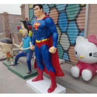 东莞厂家直销超人雕塑 电影人物雕塑 玻璃钢卡通摆件