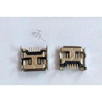 MICRO usb 插座5p 180度立式加长脚加长针卷边
