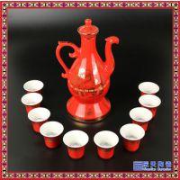 陶瓷龙凤自动酒具 青花瓷酒具套装商务馈赠感应显影杯厂家