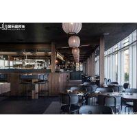 现代北欧风格的中式餐厅,昆明居乐高装修公司五华区餐饮店装修效果图!