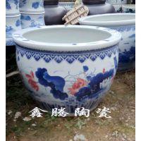 供应摆件陶瓷大缸 招财进宝陶瓷大缸 景德镇陶瓷生产商