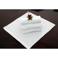辉腾公司供应白色纯棉毛巾 16S螺旋铂金缎 五星级酒店宾馆专用
