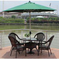 合肥售楼处别墅庭院伞配套家具户外休闲桌椅的价格