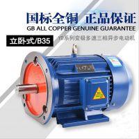 供应武汉变极多速电动机YD2-112M-6/4/2-1.1/2.0/2.4KW 上海能垦双速电机
