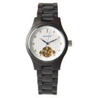 现货批发新款男女超薄机械木头手表