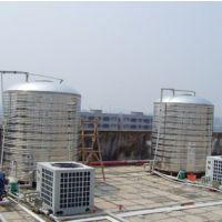 供应建湖圆柱形不锈钢保温水箱 定制容量液位显示 空气能热水配套保温设备