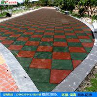 贵阳市防滑橡胶地垫安装 学校3.0厚安全地砖 运动场塑胶地垫定购
