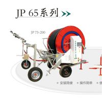 自走式喷灌机作业视频 霖丰JP75-300型农业绞盘式喷灌机