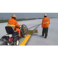 供应陕西热熔标线划线施工队-专业马路划线单位价格