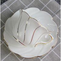 厂家批发骨质瓷咖啡杯碟 欧式陶瓷套装 馈赠下午茶礼品杯碟