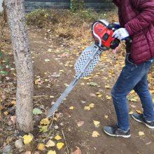 弧形铲头苗圃起苗机 富兴牌断跟起树机 进口链条断根器