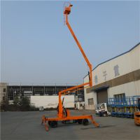 工厂定制生产10M曲臂式高空作业车 车载式液压升降平台