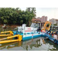 水陆两栖挖泥船 灵活、方便、效率高