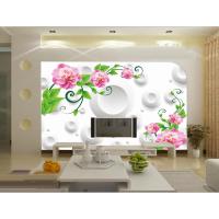 《个性墙纸定制/数码高清玫瑰》8D/3D大型壁画背景墙定制东莞厂家