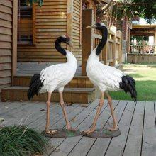 沈阳玻璃钢动物园林水景摆件餐厅会所入户门口装饰动物仿真仙鹤艺宇玻璃钢雕塑